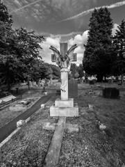BW Angel gravestone