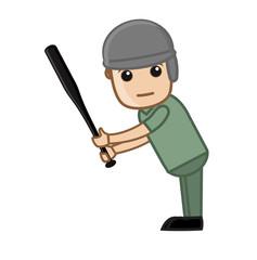 Baseball Player Playing