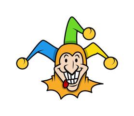 Smiling Cartoon Jester Face