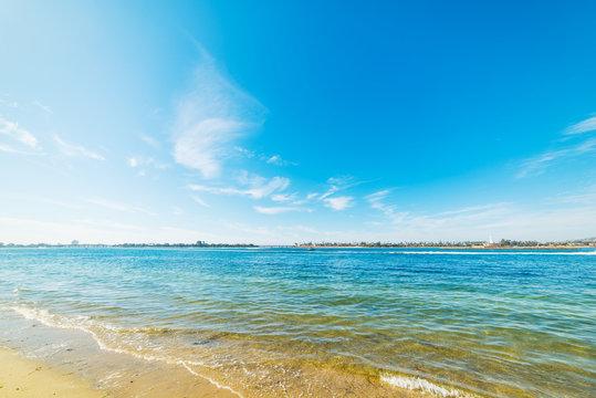 Blue sea in Mission Bay