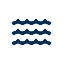 Isolated Sea Icon Symbol On Clean Background. Vector Wave Element In Trendy Style.
