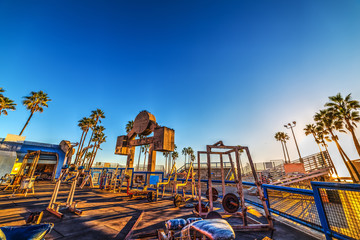 Sunset at Muscle Beach in Venice