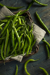 Organic Green Finger Peppers