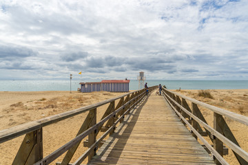 View towards one of the Lifeguard Towers in Isla Cristina