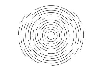 Abstract geometric vortex, Circular swirl lines, fingerprint. Vector illustration
