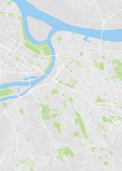 Belgrade colored vector map