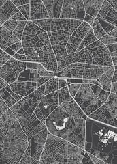 Bucharest city plan, detailed vector map