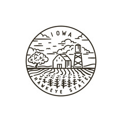 Iowa. Corn field