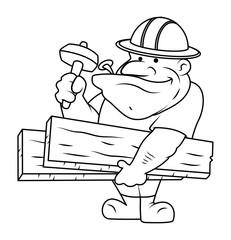 Cartoon Carpenter Character