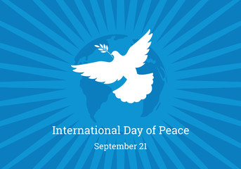International Day of Peace vector. The dove of peace vector. Important day