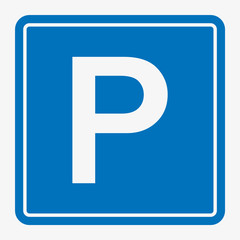 Street Road Sign : Parking Area Vector illustration.