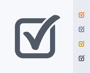 Obraz Check Box - Carbon Icons. A professional, pixel-aligned icon designed on a 32x32 pixel grid and redesigned on a 16x16 pixel grid for very small sizes. - fototapety do salonu