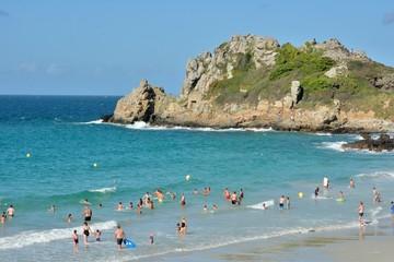 La plage de Trestrignel à Perros-Guirec en Bretagne