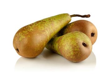 three ripe juicy pear varieties conference