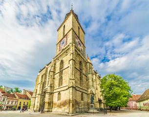 Wall Mural - Medieval black church in Brasov, Transylvania, Romania