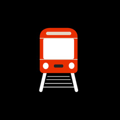 Train icon vector, Modern Transportation sign Isolated on white background. Trendy Flat style for graphic design, logo, Web site, social media