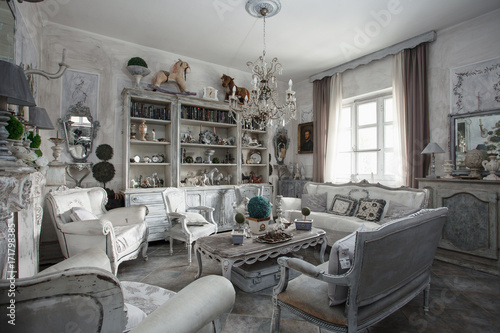 soggiorno shabby style \