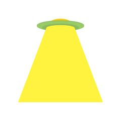 UFO isolated. Space Invader ALien ship. Vector illustration