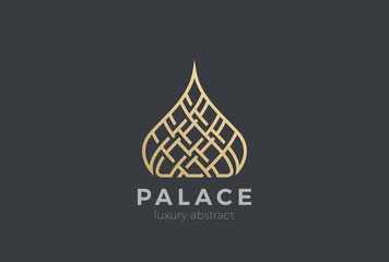 Wall Mural - Luxury Islamic Dome Palace Logo vector. Real Estate apartments