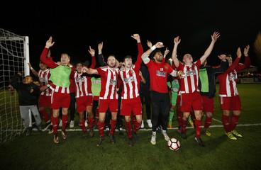 Stourbridge celebrate after the game