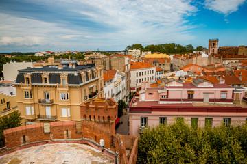 Vue sur la ville de Perpignan depuis le haut du Castillet