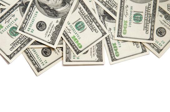 Background of 100 dollar bills