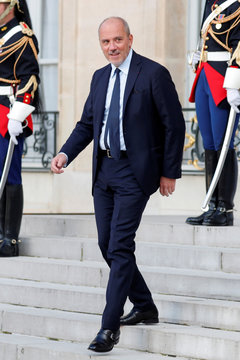 French telecom operator Orange Chairman and CEO Richard leaves after a ceremony at the Elysee Palace to celebrate Paris as host for the 2024 Summer Olympic Games, in Paris