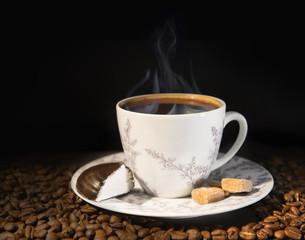 Fragrant black coffee