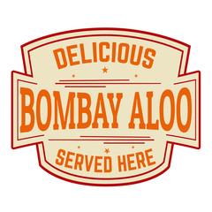 Bombay aloo sticker or label