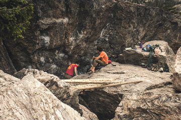 Climbers In the Rockies