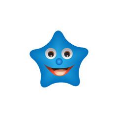 Fun cute cartoon character star.