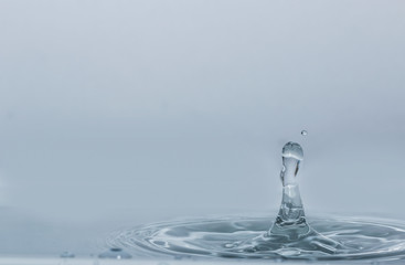 Water droplets  higher on the surface  with background
