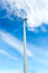 Wind turbine or windmill generating electricity.