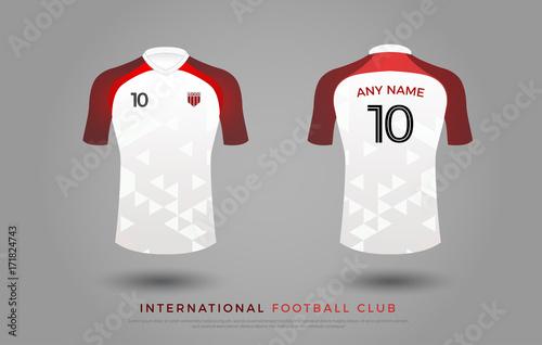 50a60530d soccer t-shirt design uniform set of soccer kit. football jersey template  for football
