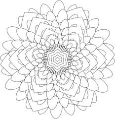black and white online art. Geometric Round Ornament
