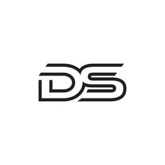 initial letter logo line unique modern DA to DZ
