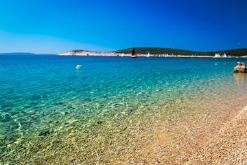 summer day in a bay in Croatia