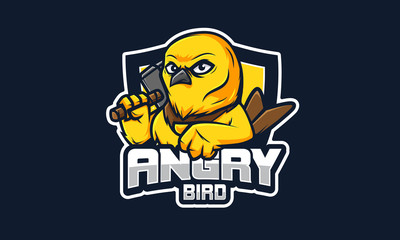 Angry Bird E Sport logo, 100%vector editable