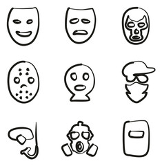 Mask Icons Freehand
