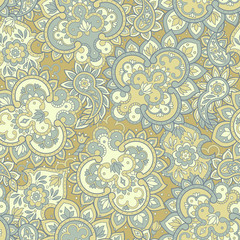 Floral Seamless vintage background. Vector background for textile design