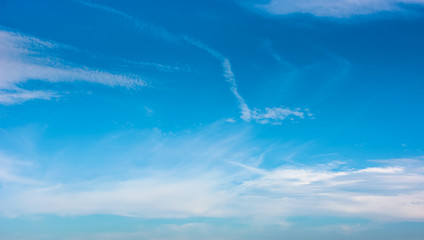 beautiful cloud formation on a blue sky. lovely nature background