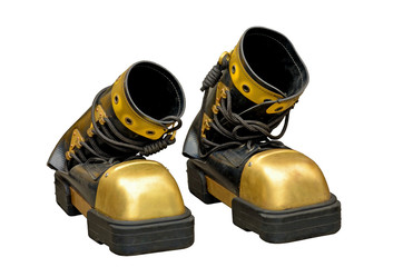 Heavy boots of the diver. Wall mural