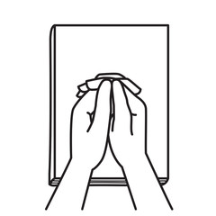 Holding hands praying on Bible