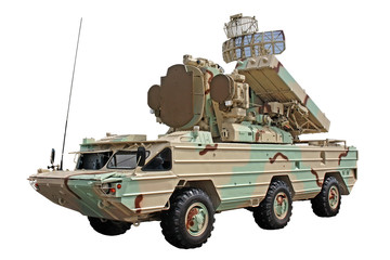 """Modernized combat vehicle from the anti-aircraft missile system """"Osa"""""""