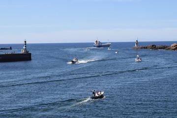 Barco carguero.