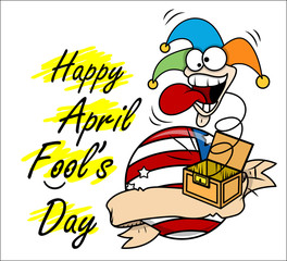April Fool Day Vector Graphic