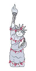 Decorative Statue of Liberty Vector