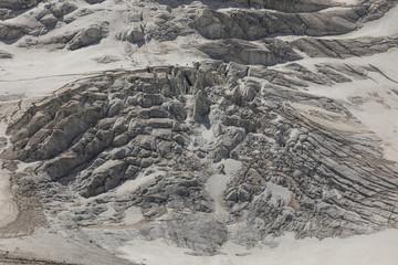 Poster Glaciers Close-up of a glacier with its glacier clefts