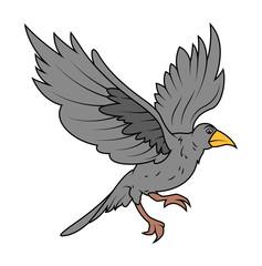 Cartoon Hawk Bird Flying Vector