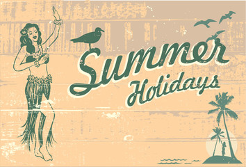 Summer holidays sign, Vector Illustration